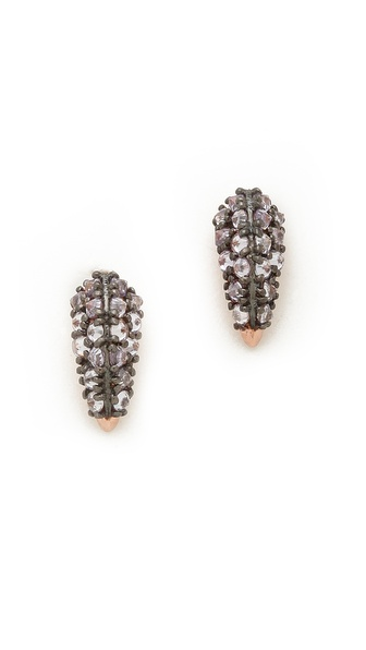 Katie Rowland Stone Studded Fang Earrings