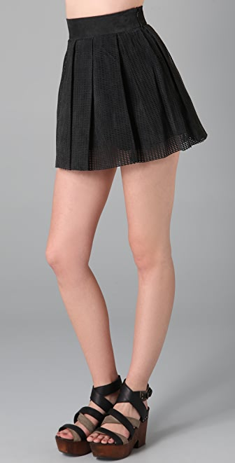 Ksubi Perforated Nubuck Skirt