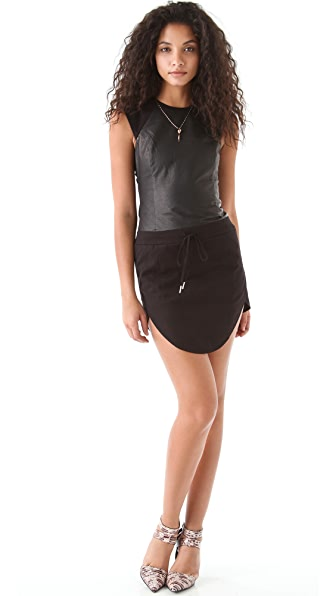 Ksubi Canvas & Leather Dress