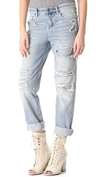 Ksubi Boyfriend Ripped Baggy Jeans