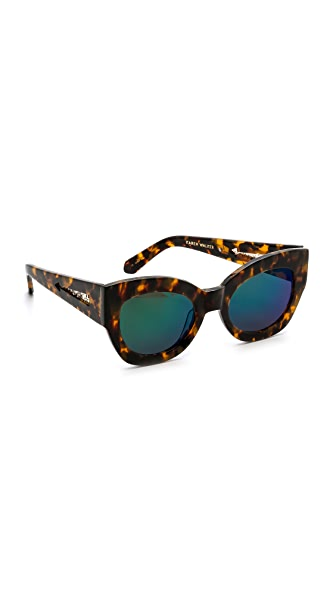 Karen Walker Superstars Collection Northern Lights Mirrored Sunglasses - Crazy Tort/Green Revo