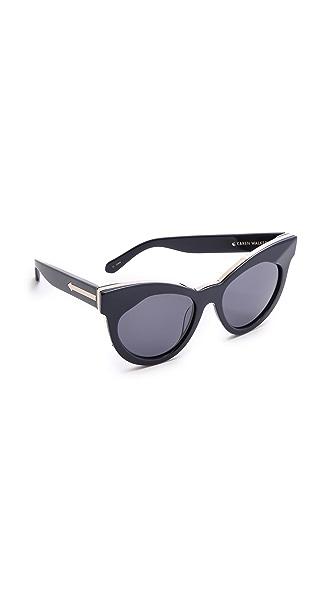 Karen Walker Starburst Sunglasses - Navy Gold/Navy Mono