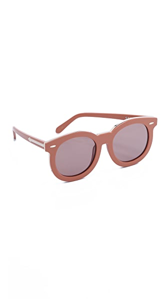 Karen Walker Super Duper Thistle Sunglasses - Tan Gold/Brown Mono