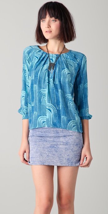 Kelly Wearstler Arara Print Blouse