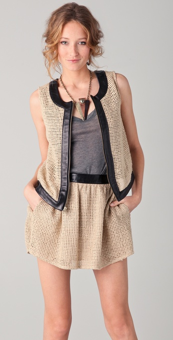 Kelly Wearstler Arco Basket Weave Vest