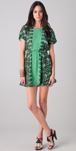 Kelly Wearstler Numa Print Dress with Back Cutout
