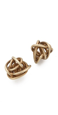 Kelly Wearstler Brass Knot Earrings