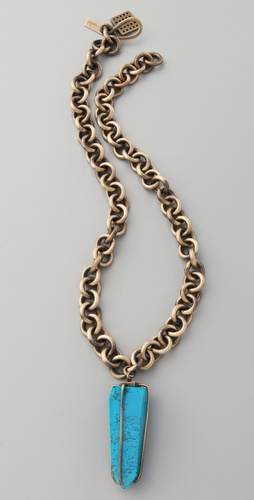 Kelly Wearstler Chain Necklace with Turquoise