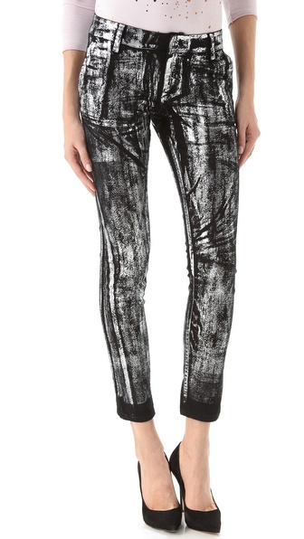 Kelly Wearstler Foil Tierney Skinny Jeans