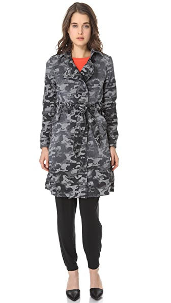 Kelly Wearstler Camo Denim Trench