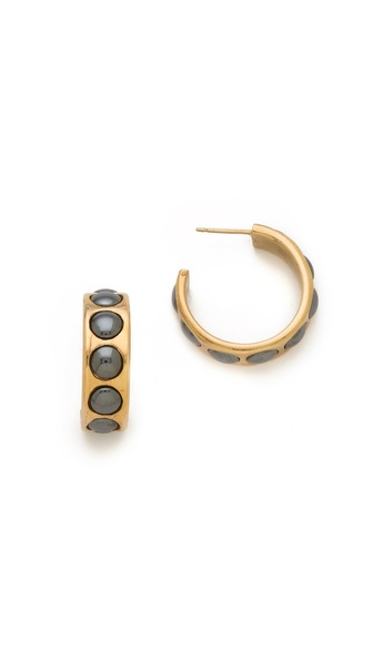 Kelly Wearstler Cabochon Hoop Earrings