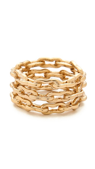 Kelly Wearstler Bent Link Ring Set