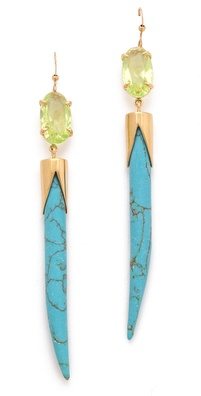 Kelly Wearstler Faceted Stone Earrings