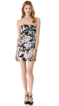 Kelly Wearstler Wind Up Strapless Dress
