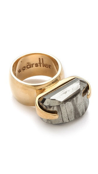 Kelly Wearstler Faceted Pyrite Ring