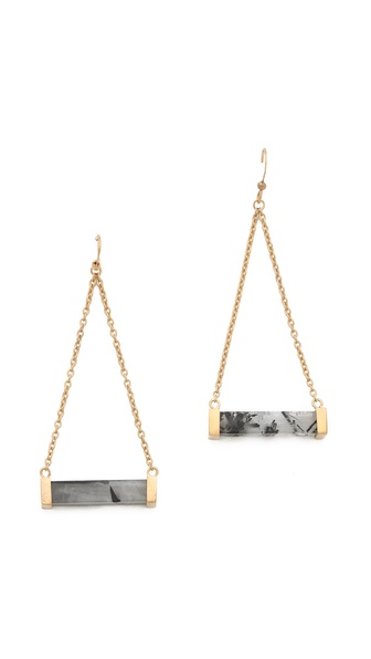Stone Rod Earrings