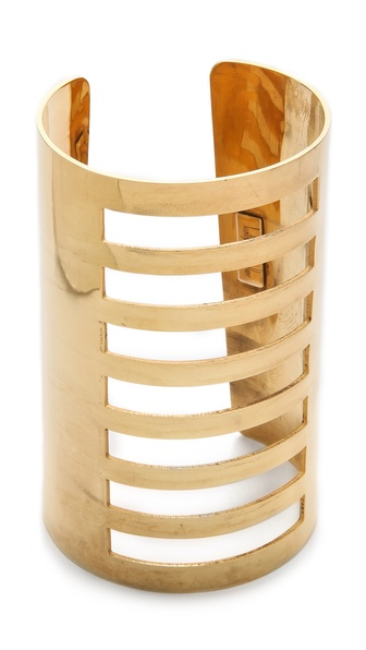 Kelly Wearstler Linear Cuff :  shopbop style gold jewelry