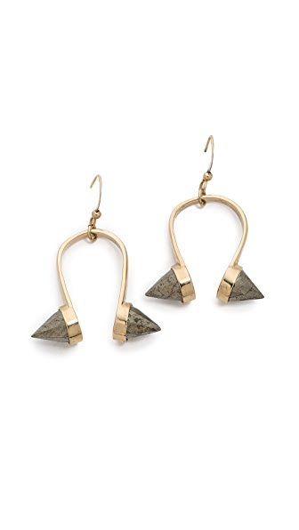 Kelly Wearstler Faceted Pyrite Earrings