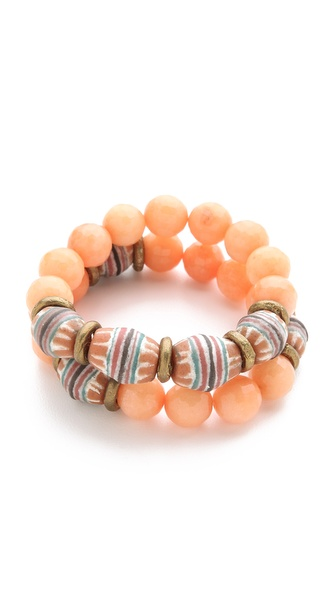 Lacey Ryan Orange Jade Bracelet Set
