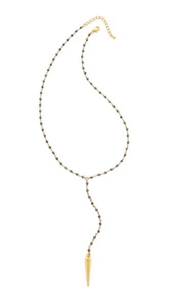 Lacey Ryan Pyrite Lariat Necklace