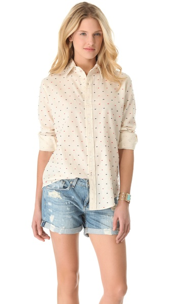 The Lady & The Sailor Boyfriend Button Shirt