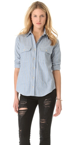 The Lady & The Sailor Pocket Button Up Shirt