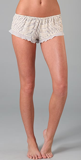 La Fee Verte Silk Shorts
