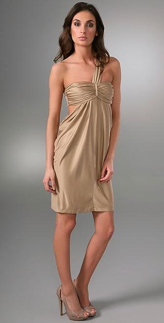 Laila Azhar One Shoulder Drape Dress