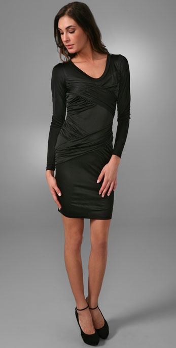 Laila Azhar Long Sleeve Crisscross Dress