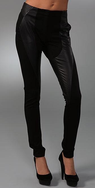 L.A.M.B. Leather & Ponte Legging Pants