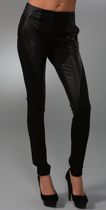 L.A.M.B. Leather & Ponte Legging Pants