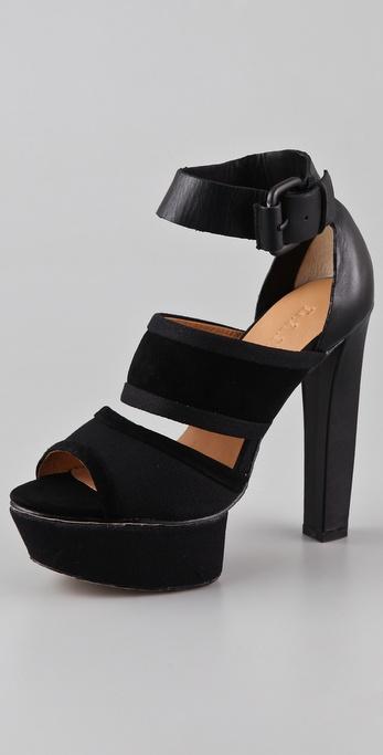 L.A.M.B. Burnet Platform Sandals