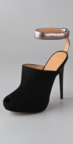 L.A.M.B. Apollo Suede Ankle Strap Pumps