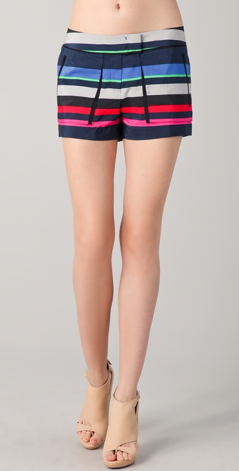 L.A.M.B. Bold Striped Shorts