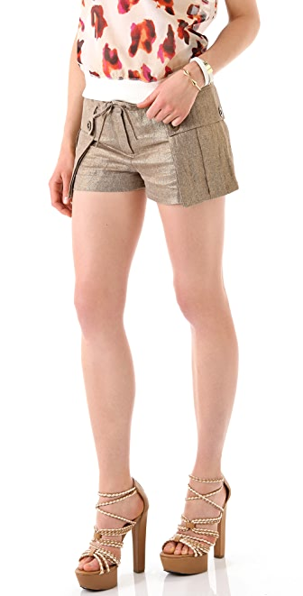 L.A.M.B. Metallic Cargo Shorts