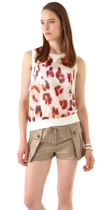 L.A.M.B. Leopard Print Sleeveless Top