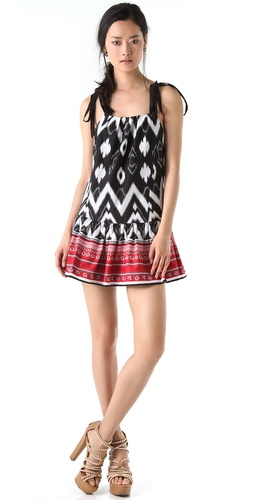 L.A.M.B. Mixed Print Mini Dress