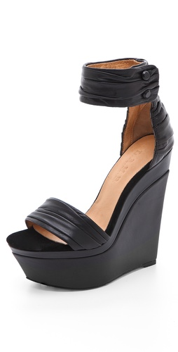 L.A.M.B. Iowa Platform Wedge Sandals