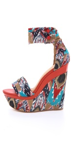 Lamb Iowa Printed Wedge Sandal