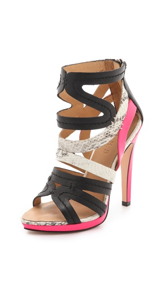 L.A.M.B. Jen Back Zip Sandals