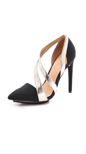 L.A.M.B. Lynn Asymmetrical Strappy Pumps