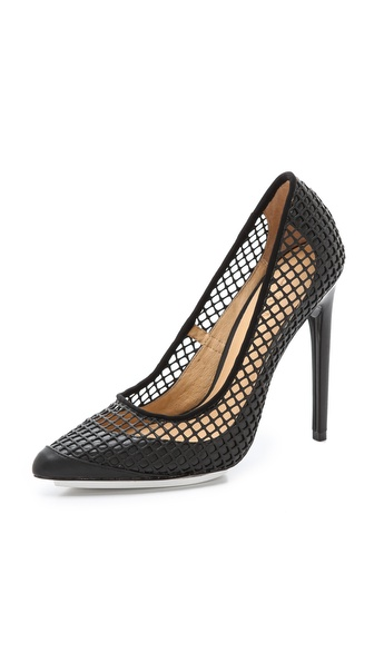 L.A.M.B. Sandy Mesh Pumps