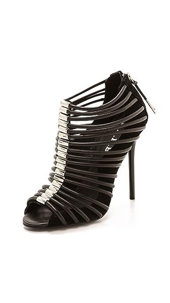 L.A.M.B. L.A.M.B. Walcot Cage Sandals (Black)
