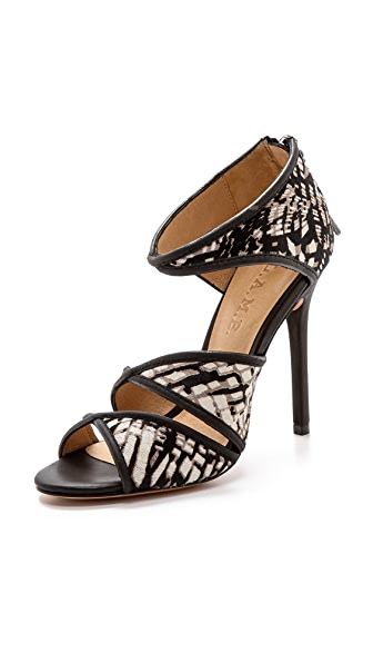 L.A.M.B. L.A.M.B. Waren Print Haircalf Sandals (Multicolor)