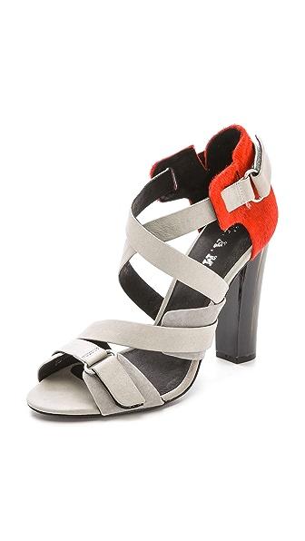 L.A.M.B. L.A.M.B. Korry Haircalf Sandals (Grey)
