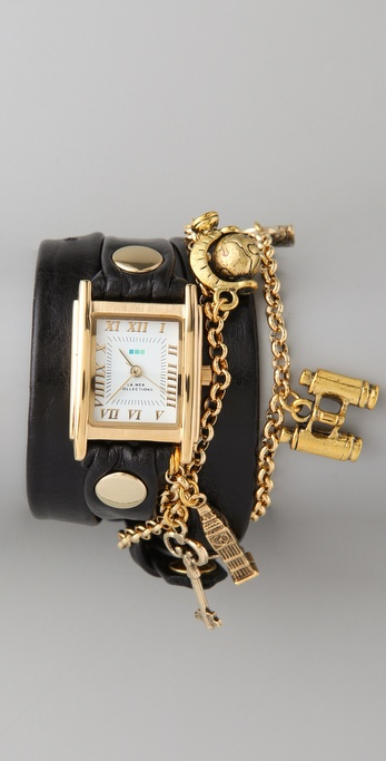 La Mer Collections Tourista Watch with Black Strap
