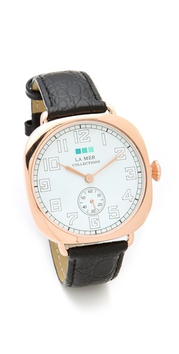 Shop La Mer Collections Vintage Oversized Watch and La Mer Collections online - Accessories,Womens,Jewelry,Watches, online Store