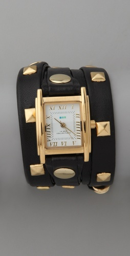 La Mer Collections Pyramid Stud Wrap Watch