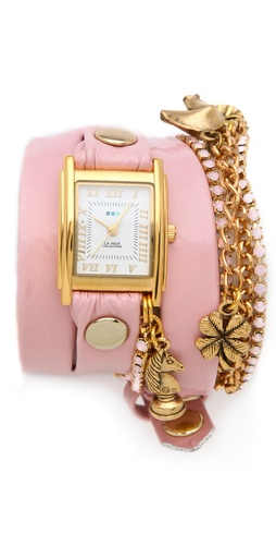 Shop La Mer Collections Crystal Ballerina Charm Watch and La Mer Collections online - Accessories,Womens,Jewelry,Watches, online Store