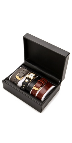 Shop La Mer Collections Gold Watch & Interchangeable Straps and La Mer Collections online - Accessories,Womens,Jewelry,Watches, online Store